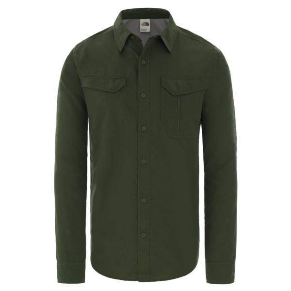 The North Face M L/S SEQUOIA ST ENGGREEN NF0A2XJW3